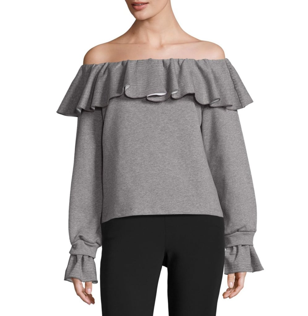 Opening Ceremony Gigi Off-the-Shoulder Flounce Sweater ($295)