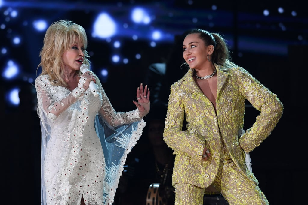 Miley Cyrus And Dolly Parton At The 2019 Grammys Popsugar Celebrity