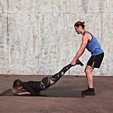Partner Plank Shift