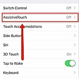 Open AssistiveTouch