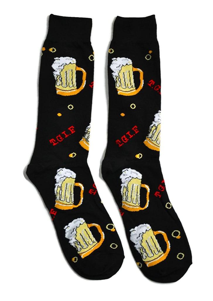 Patterned Beer Socks