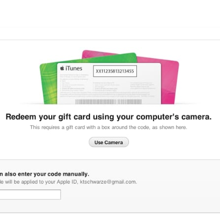 Redeem iTunes Card With Camera