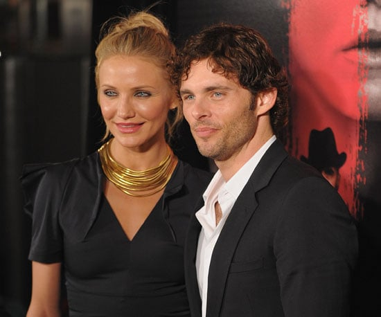 Slide Photo of Cameron Diaz and James Marsden at The Box Premiere in NYC