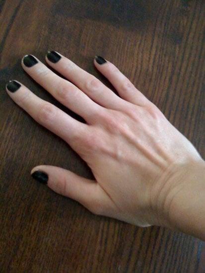 Plain Black Nails