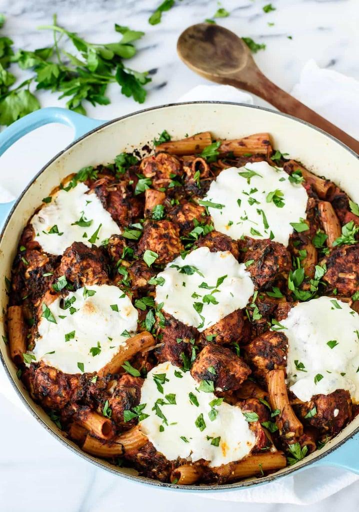 Mozzarella Meatball Casserole