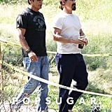 Josh Brolin walked on the set of Labor Day.
