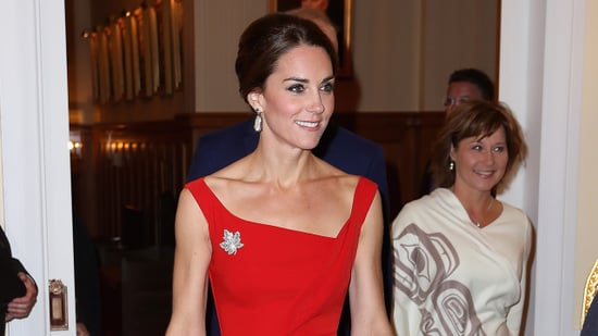 Kate Middleton Goes Red Hot for Formal Reception With Prince William on Royal Tour of Canada