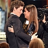 Eddie Redmayne and Alicia Vikander shared a sweet hug in 2016.