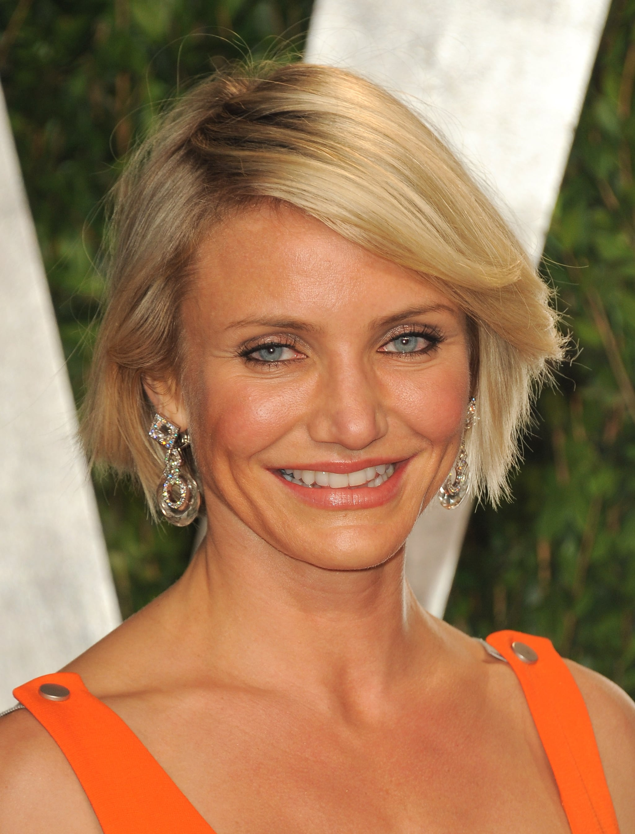 Cameron Diaz up close at the Vanity Fair party.
