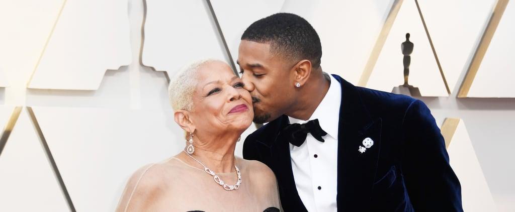 Michael B. Jordan and His Mum at the 2019 Oscars