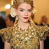 Anya Taylor-Joy's Red Lip and Gold Crown, 2018