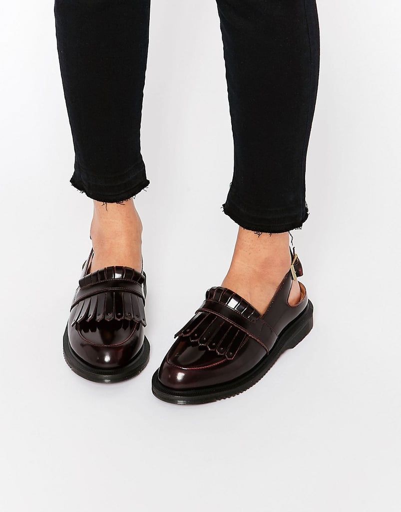 dr martens valentine cherry red slingback tassel loafer flat shoes shop cool loafers. Black Bedroom Furniture Sets. Home Design Ideas