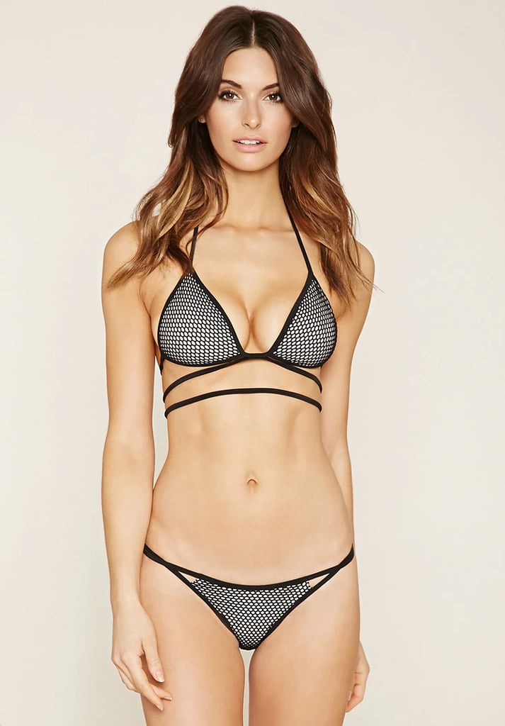 Mesh Strappy Bikini Top ($15) and Mesh Cheeky Bikini Bottoms ($13)