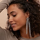 H&M Long Rhinestone Earrings