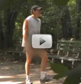 Steve Guttenberg Jogging Sans Pantaloons in Central Park
