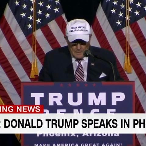 "Rudy Giuliani Wears ""Make Mexico Great Again Also"" Hat"