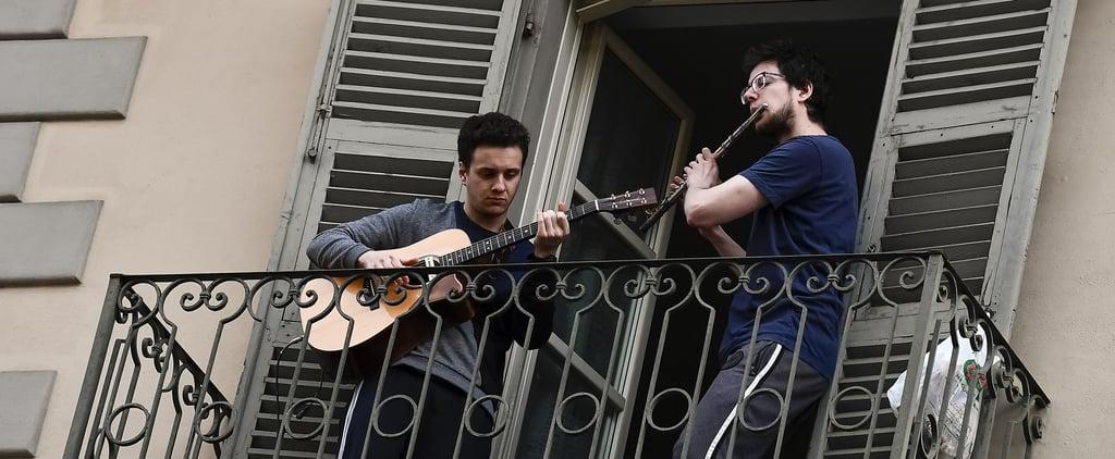 Italians Are Singing During Coronavirus Lockdown   Video