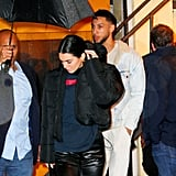 Kendall Jenner Leather Pants With Ben Simmons