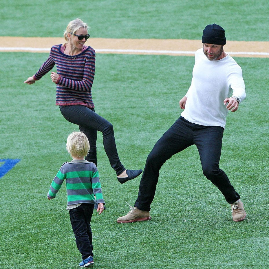 Naomi Watts and Liev Schreiber Play Soccer   Pictures