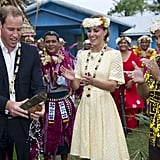 Two weeks later, Kate wore hers in Tuvalu during her tour of Southeast Asia.