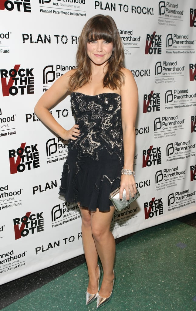 Sophia Bush wore a strapless beaded dress from Lisa Ho to the Rock the Vote and Planned Parenthood inauguration party.