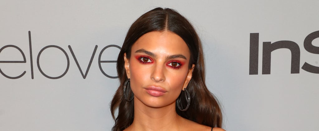 Emily Ratajkowski Was a Starlet Wearing Scarlet Makeup at the Golden Globes