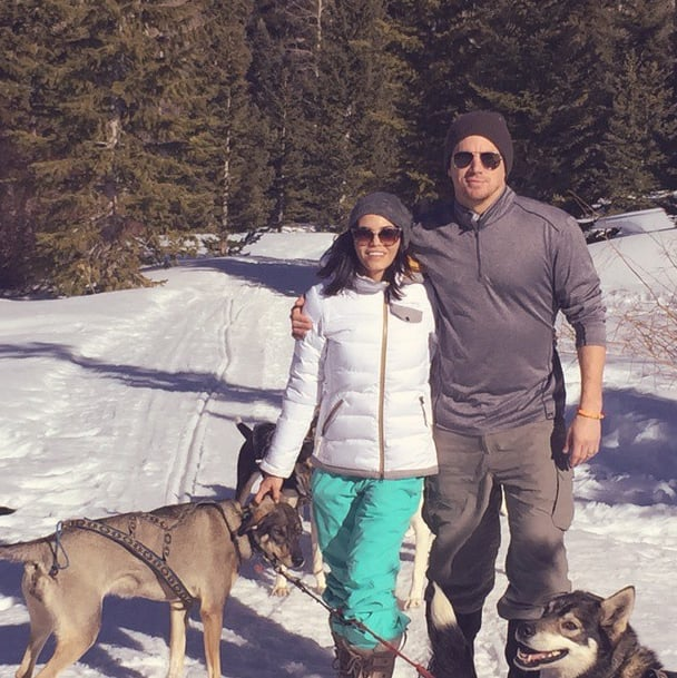 Jenna Dewan and her husband, Channing Tatum, took a snowy hike with their dogs.