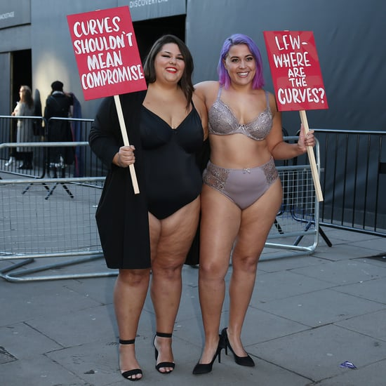 Curvy Model Protest at London Fashion Week Fall 2018