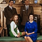 Prince Charles and Princess Anne With Their Parents in Norfolk, England, in 1970
