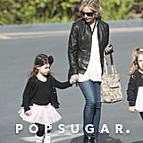 Sarah Michelle Gellar took her daughter, Charlotte Prinze, to dance class in LA on Sunday.