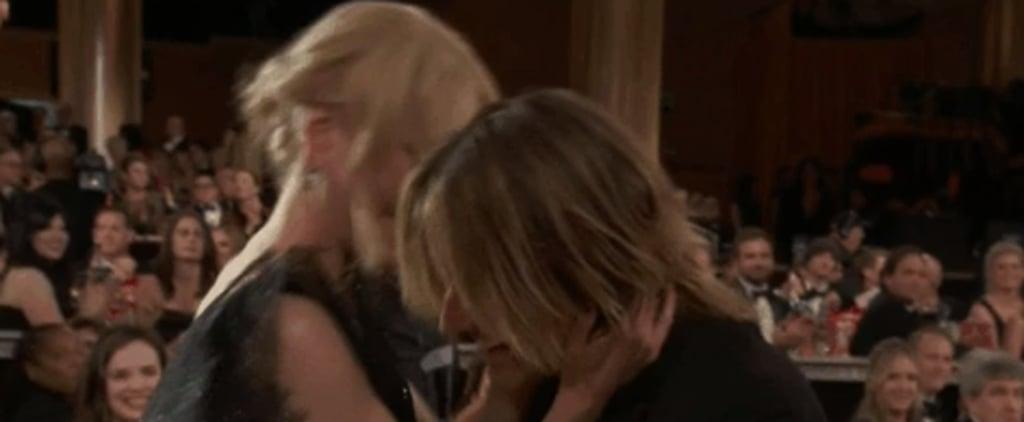Nicole Kidman Kissing Keith Urban at the 2018 Golden Globes