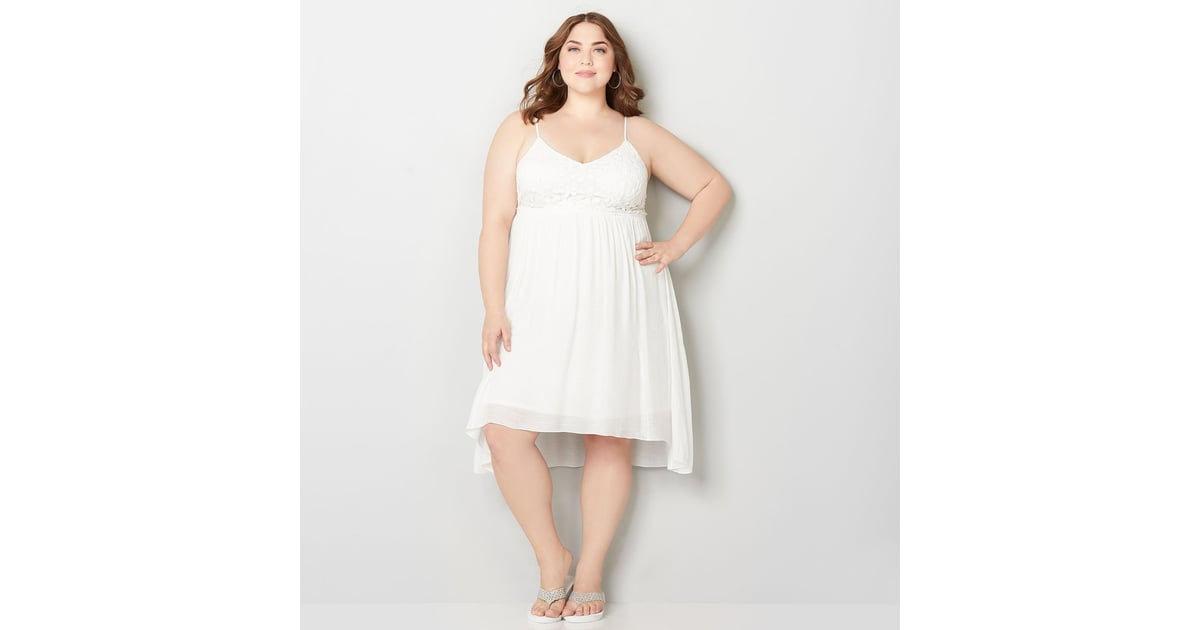 Avenue Plus Size Dress Hailey Baldwin White Minidress Popsugar