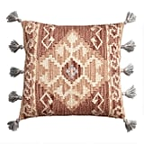 Rust Kilim Indoor Outdoor Throw Pillow With Tassels