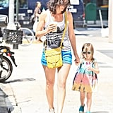 Cobie Smulders walked with Shaelyn Killam.