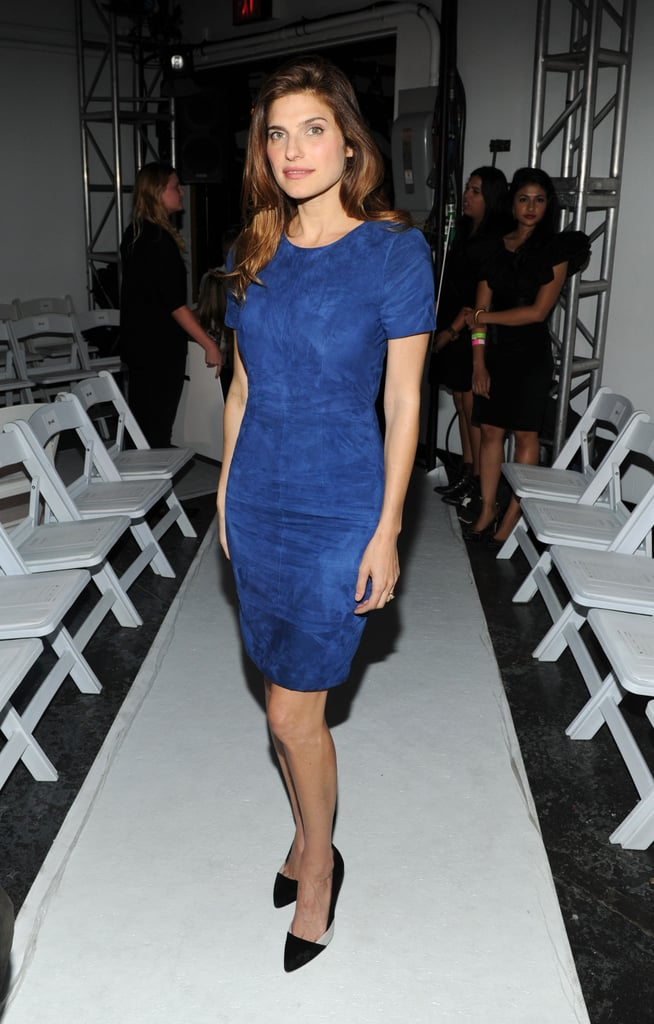 Lake Bell wore a blue Altuzarra dress for the designer's show on Saturday night.