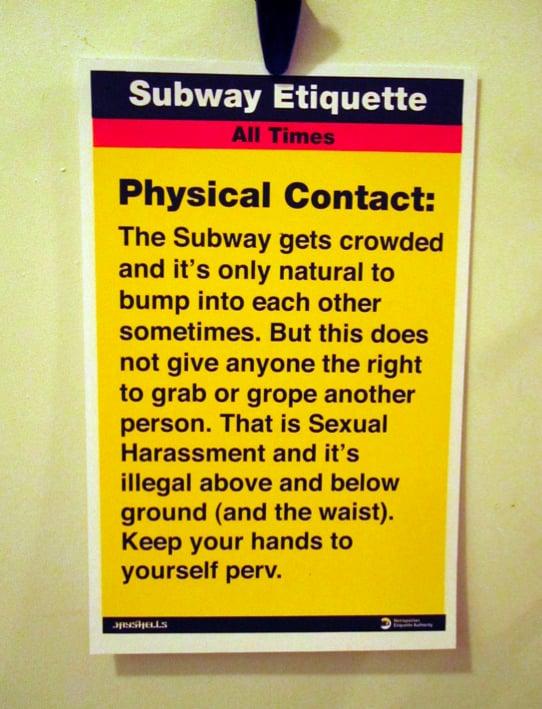 MTA's Subway Etiquette Poster Picture