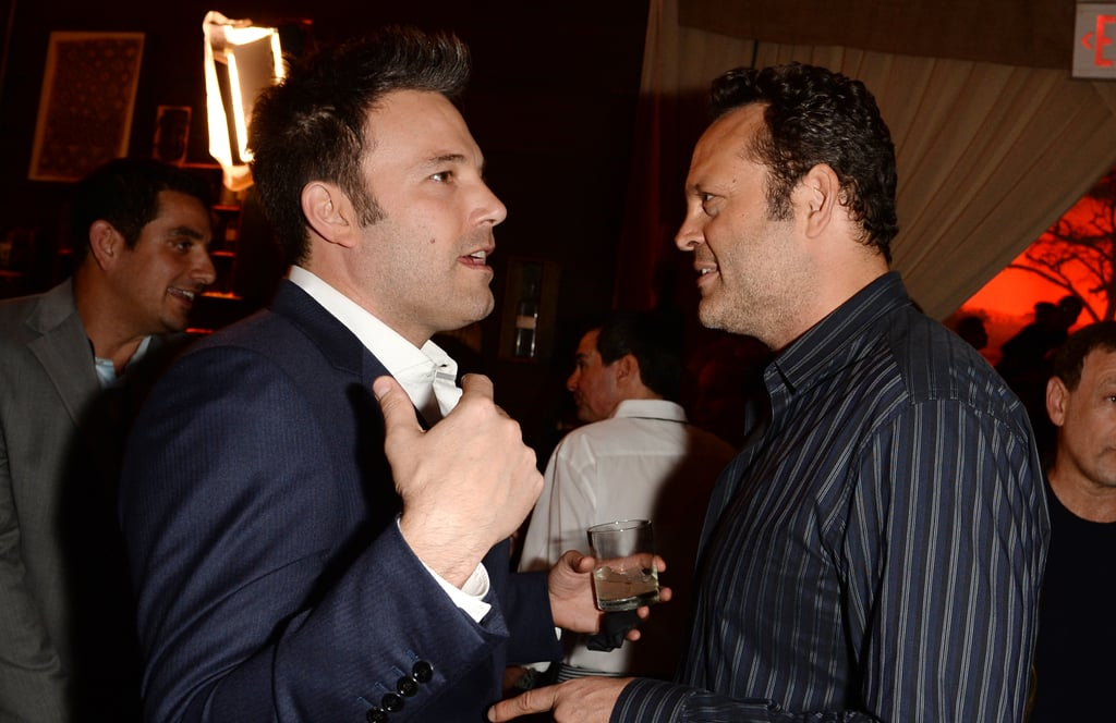 Ben Affleck chatted with Vince Vaughn.