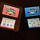 His and hers Pokémon games.
