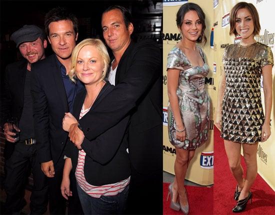 Photos of Jason Bateman, Amy Poehler, Mila Kunis, Simon Pegg, Will Arnett, and Jessica Stroup at the LA Extract Premiere