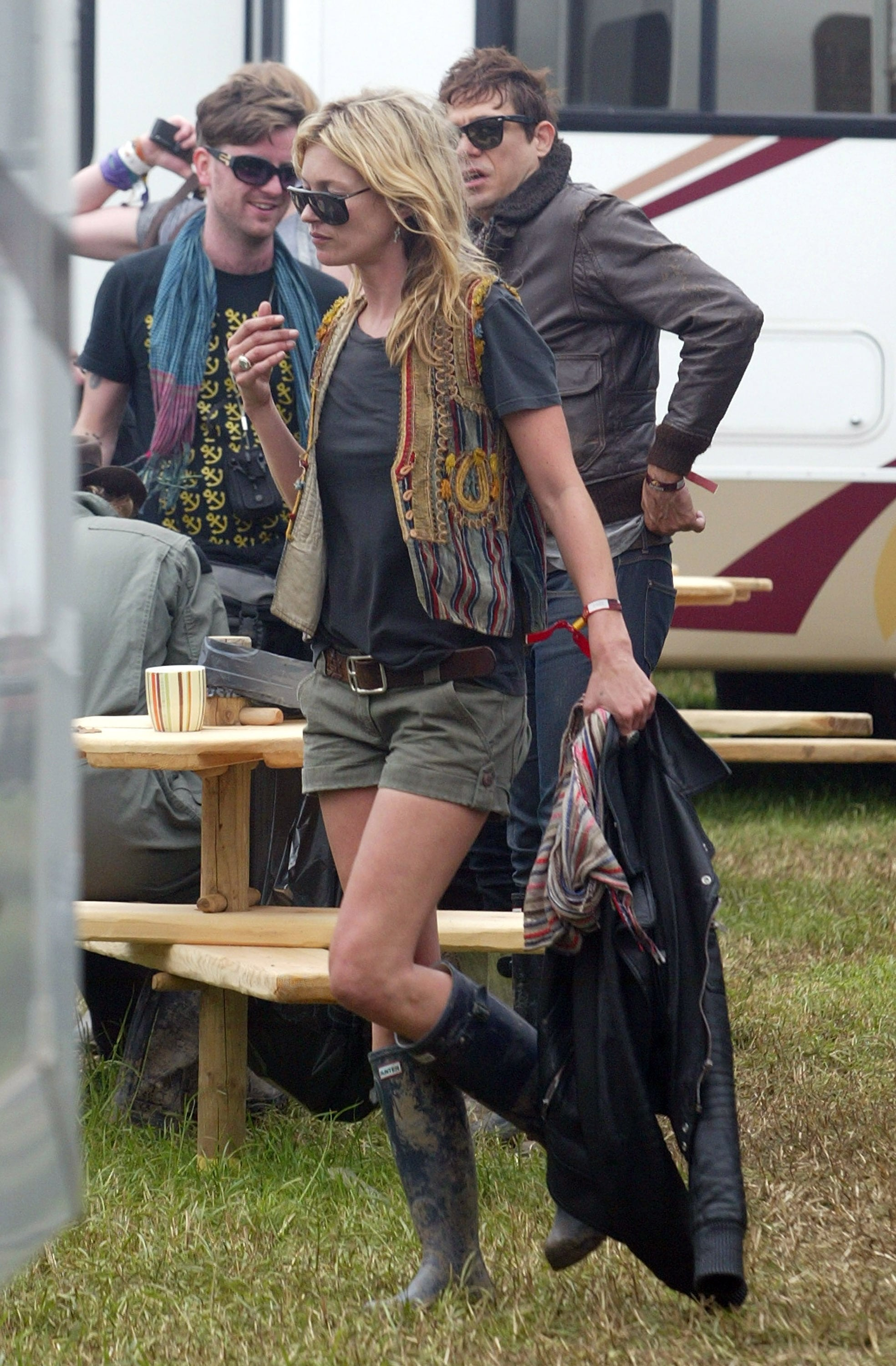 GLASTONBURY, UNITED KINGDOM - JUNE 28:  Kate Moss is seen during day two of the 2008 Glastonbury Festival on June 27, 2008 in Glastonbury, Somerset, England.  (Photo by Danny Martindale/WireImage)