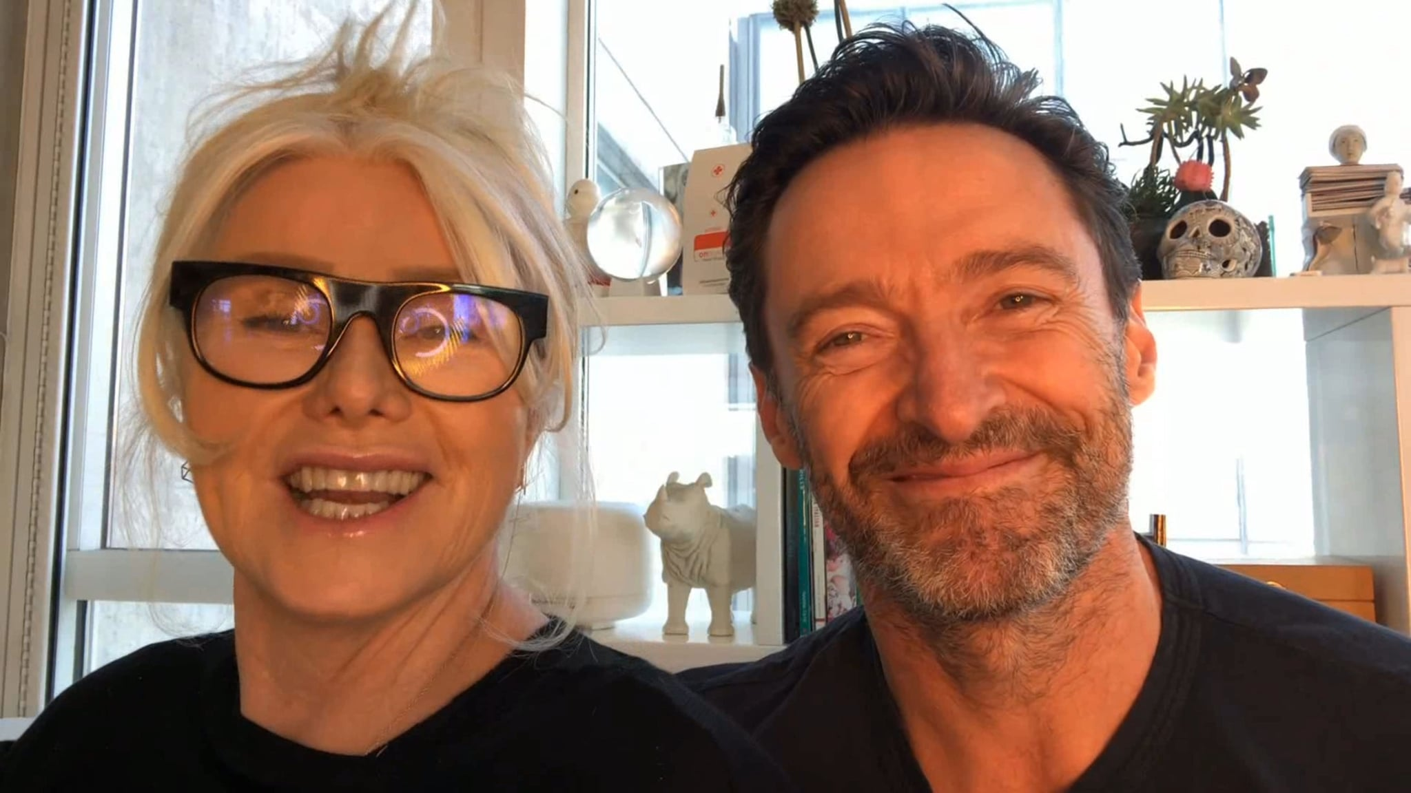 UNSPECIFIED - FEBRUARY 25: In this screengrab released on February 25, (L-R) Deborra-Lee Furness and Hugh Jackman speak during the G'Day USA American Australian Association Arts Gala on February 25, 2021. (Photo by G'Day USA/G'Day USA via Getty Images)