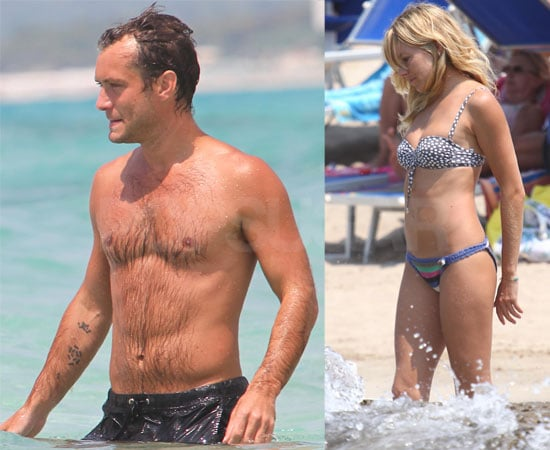 Pictures of Sienna Miller in a Bikini and Shirtless Jude
