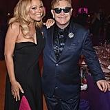 Pictured: Mariah Carey and Elton John