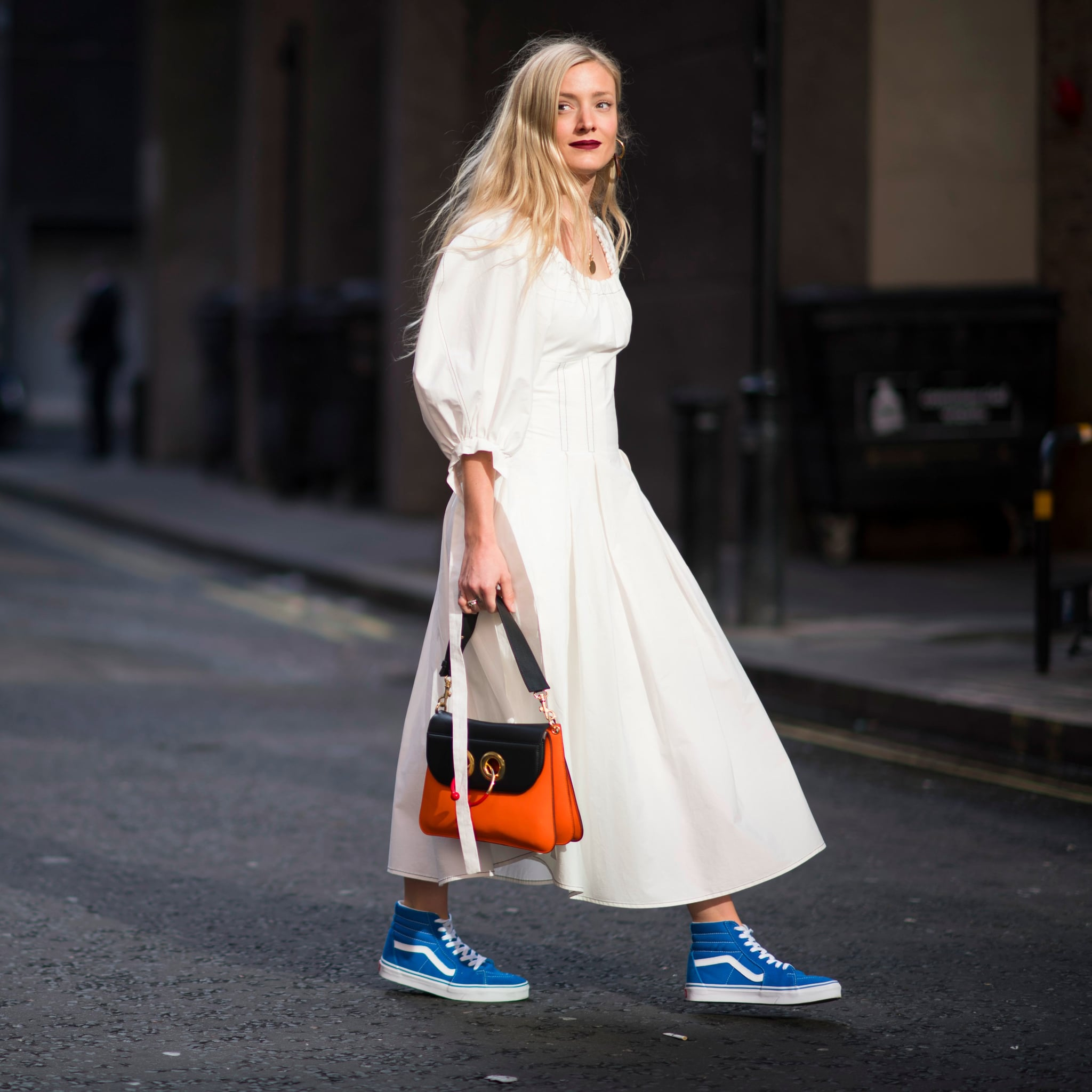 How to: Pairing Sneakers With Dresses