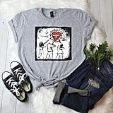 Flaming Heart Trio T-Shirt