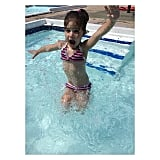 Harper Smith went for a swim while visiting Texas.  Source: Instagram user tathiessen