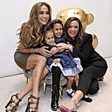 Jennifer Lopez chose her longtime friend Leah Remini as the godmother of her twins, Max and Emme, whose father is Marc Anthony.