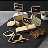 Crate & Barrel Chalkboard Cheese Markers — Set of 6 ($13)