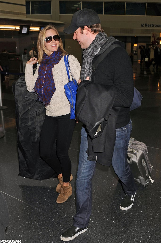 Emily and John Are All Smiles as They Land in NYC