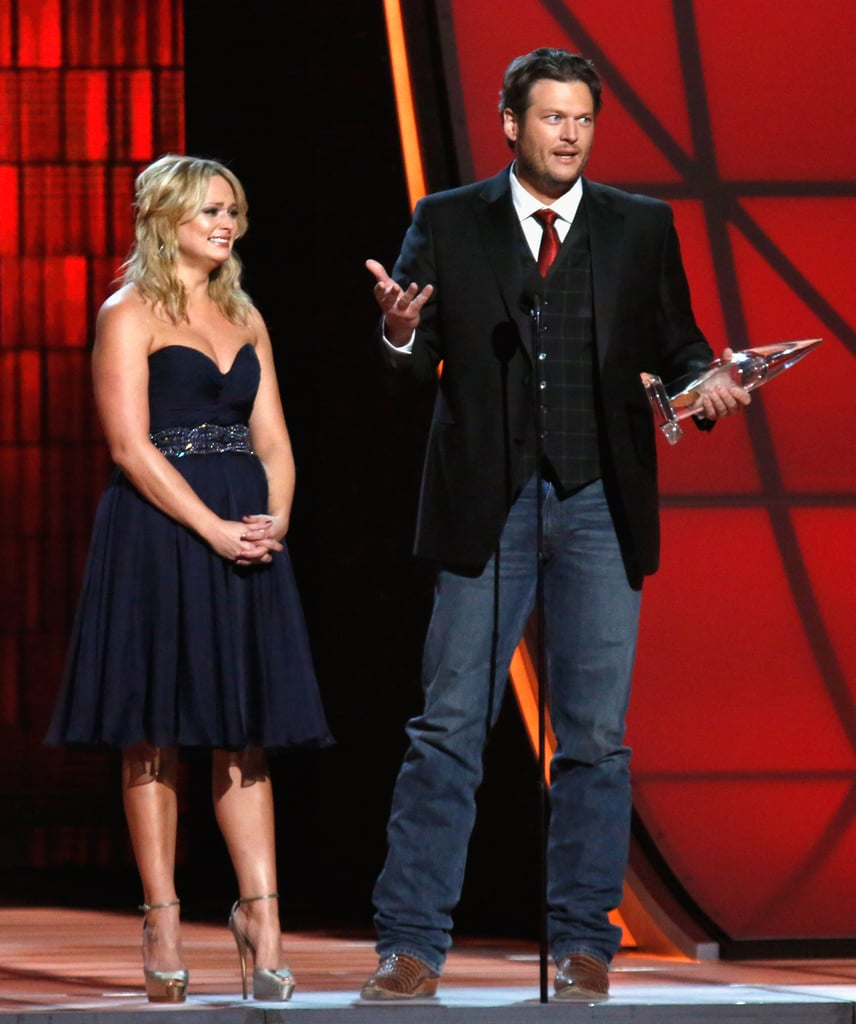 Miranda Lambert and Blake Shelton appeared on stage at the Country Music Association Awards in Nashville.